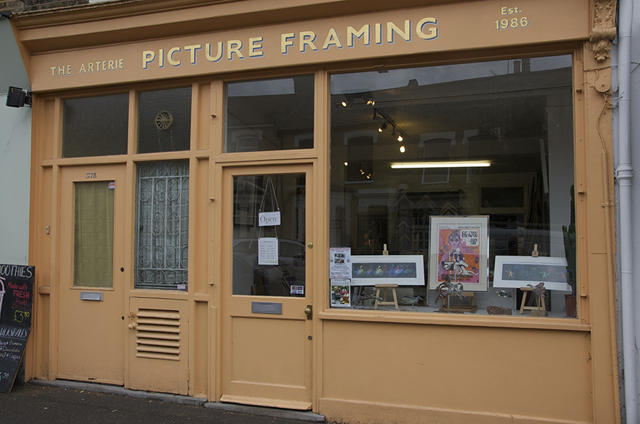 The Arterie Gallery and Picture Framers in East Dulwich