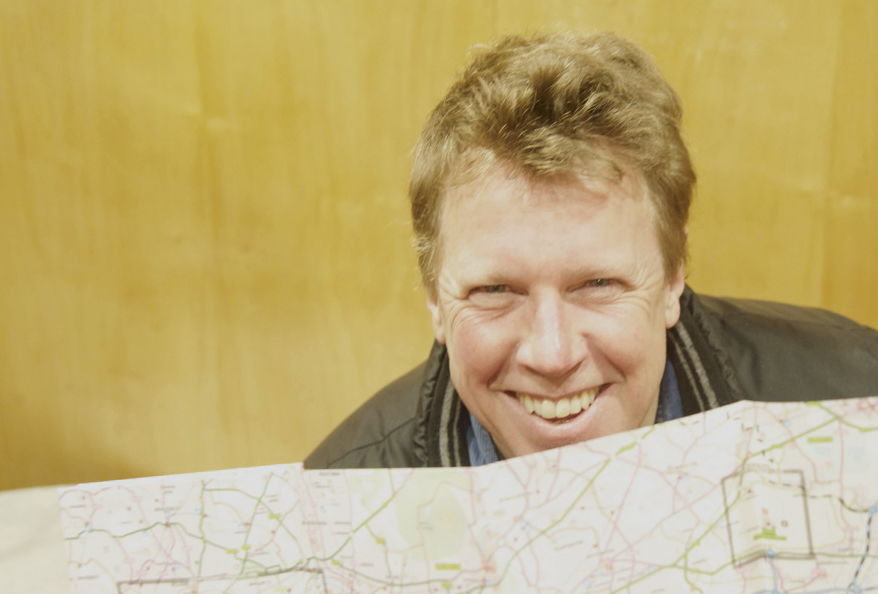 Martin France with road map. Photography by Beowulf Mayfield