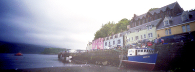 Portree Harbour, Isle of Skye, photographed with a pinhole camera by Bepwulf Mayfield